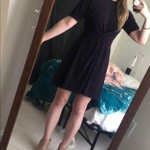 Dark Purple Skater Dress - Top Shop - size 4